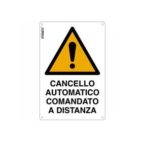 Signe portail automatique - 30x20 - aluminium
