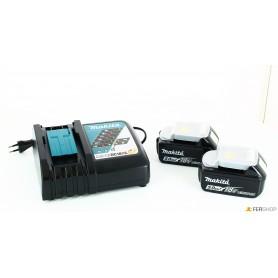 Chargeur de batterie makita - 197624-2 - + 2 les batteries