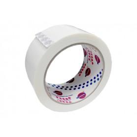 Ruban adhésif d'emballage silencieux - blanc - 50x66 - pp36n