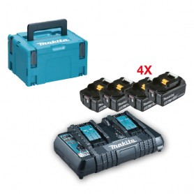 Kit energy batteries. 18v-5h - 197626-8 - 4 batteries + double chargeur.