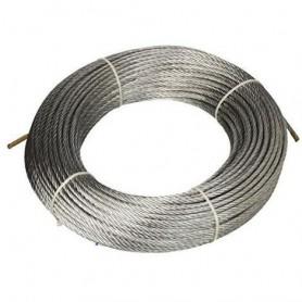 Câble en acier 133 fils - dia. 4 x 15mt. - rouleau