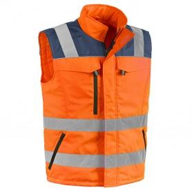 Gilet col - tg.xl - orange - haute-visibilité
