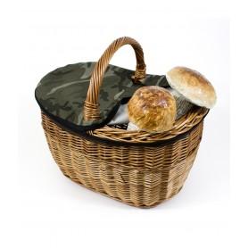 Panier à champignons en osier avec bow - mod. Néerlandais - c/cover