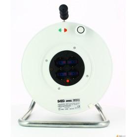 Enrouleur de câble civile faeg - mt.50-3x1.5 - 4 schuko 220v ip20