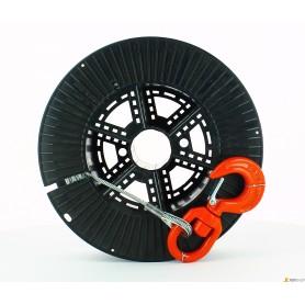 Câble en acier x treuil - d.mm.5.0-ml80 - c/crochet