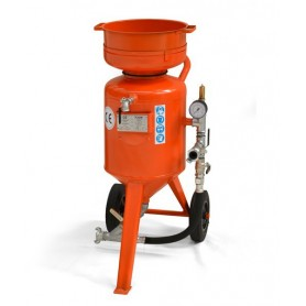 Sablage machine à cb-60 litres - contrôle à distance - avec le kit