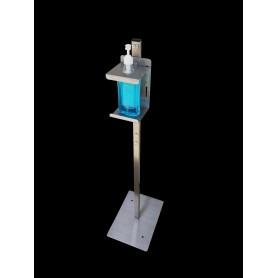 Colonne de gel de désinfection - simple en acier inoxydable - nu